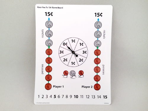 Race You To 15¢ Game Board