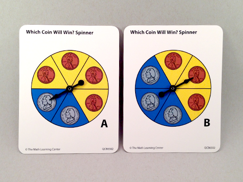 Which Coin Will Win? Spinner A &Amp; B