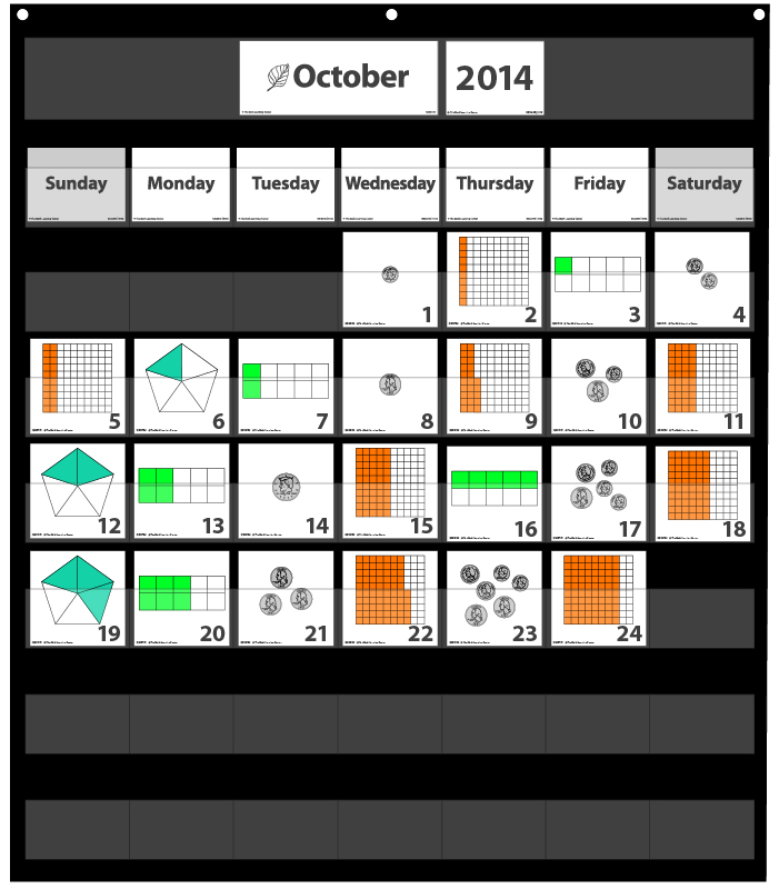 Number Corner Calendar Markers – October