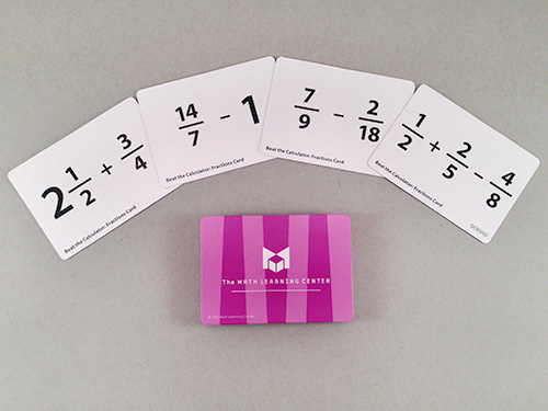 Beat The Calculator: Fractions Card Decks