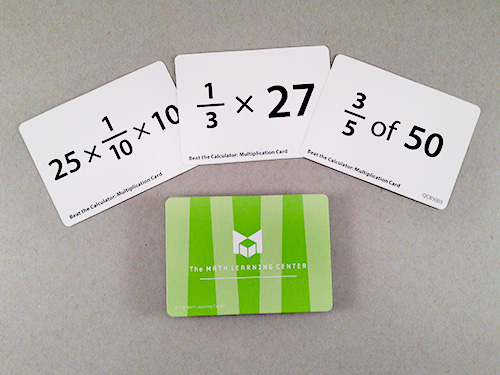 Beat The Calculator: Multiplication Card Decks