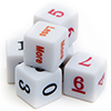 Numbered Dice Collection, (qty 6)