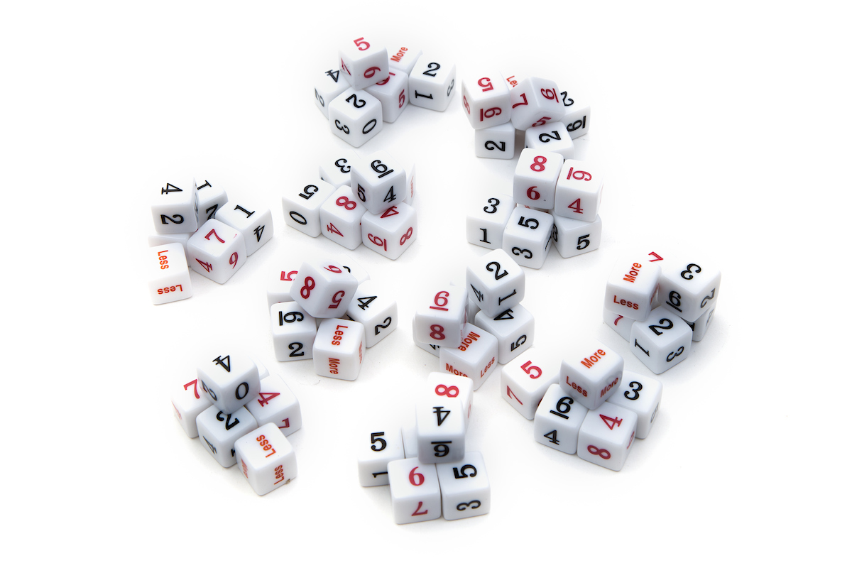Numbered Dice Collection, (qty 15)