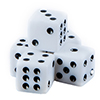 Six Sided Dice, One Color, (qty 5)