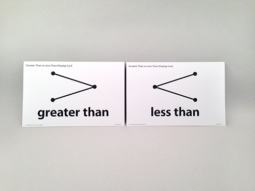 Greater Than Or Less Than Display Cards