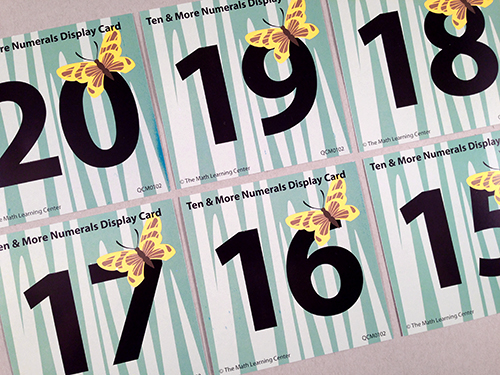 Ten & More Numerals Display Cards