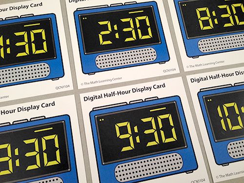 Digital Half-Hour Display Cards