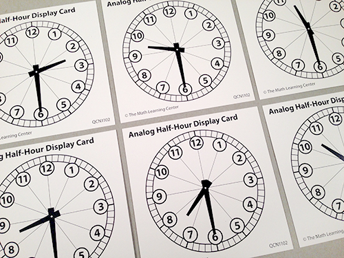 Analog Half-Hour Display Cards