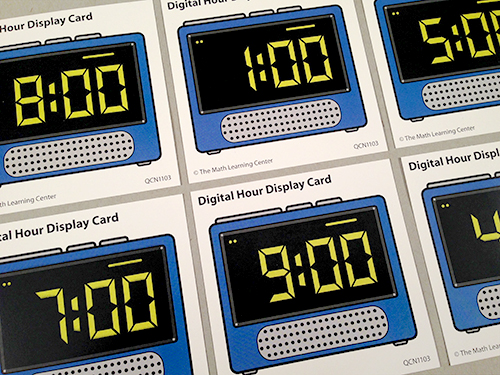 Digital Hour Display Cards