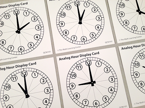 Analog Hour Display Cards
