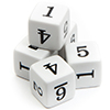 Numbered Dice, 1 - 6, (qty 5)