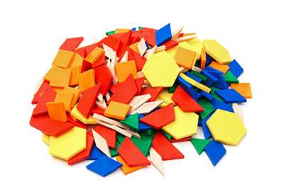 Pattern Blocks, Plastic