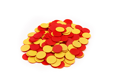 Red & Yellow Two-Sided Counters